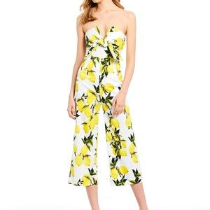 NWT Lemon print jumpsuit